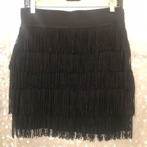 Mini fringe skirt by BCBG